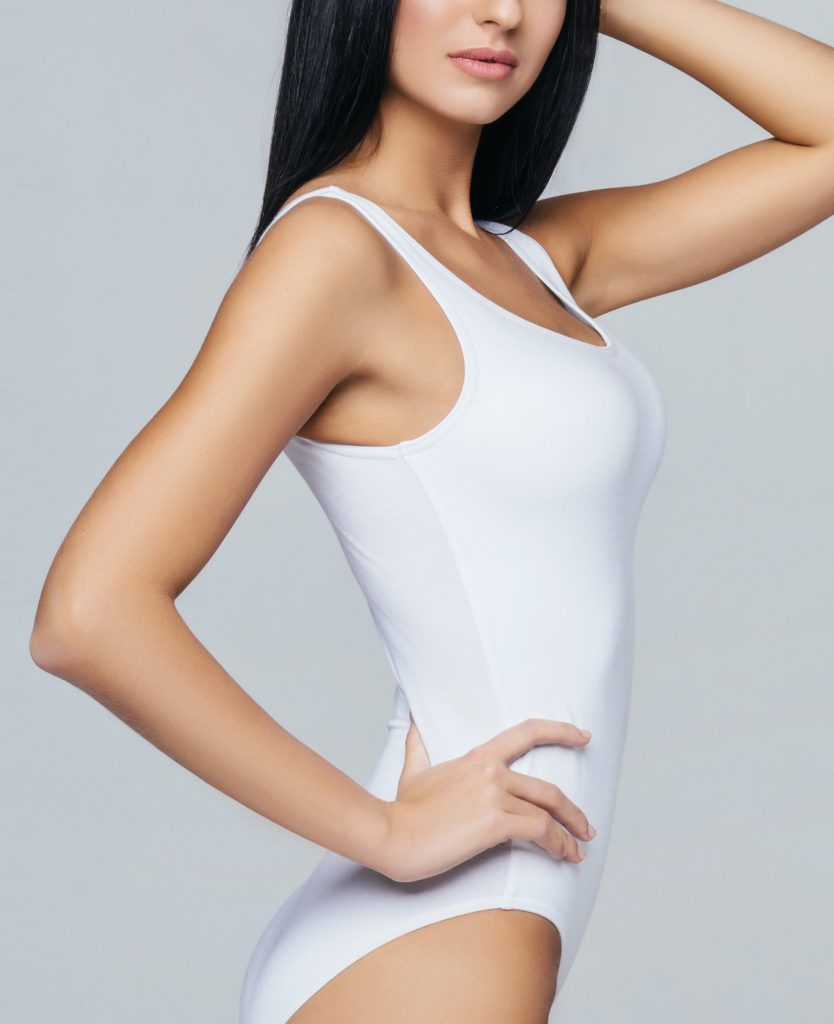 Woman after sculpsure warmsculpting treatment