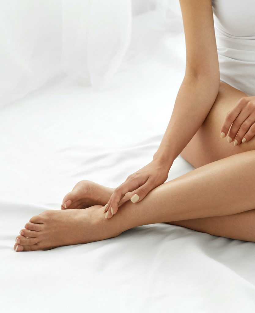 woman with smooth legs after hair removal